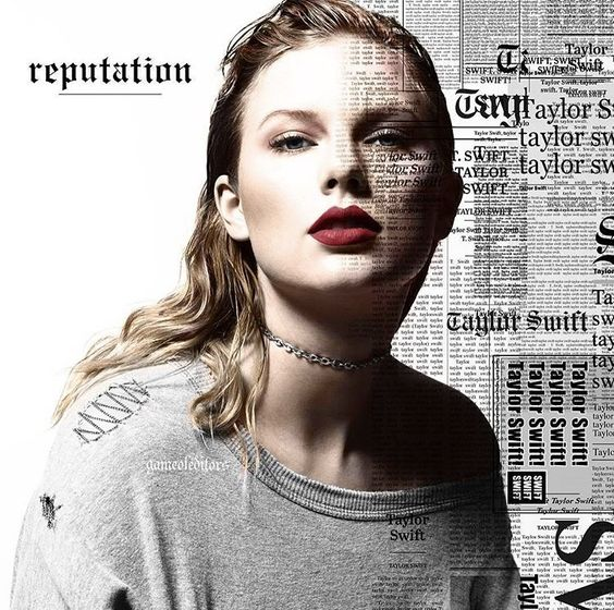 Taylor Swift: Reputation. (New Album 6 cover COLORED, original photo is black and white) Release date: November 10th, 2017)