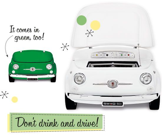 Fiat 500 style cooler...