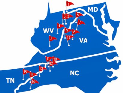 Map of Southeast Ski Resorts  Places To GoGo Back AgainGone To