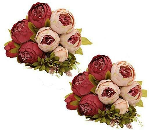 Jgyql Vintage Artificial Peony Fake Silk Peony Flowers Bouquet 2pcs For Home Wed In 2020 Artificial Peonies Flowers Bouquet Silk Peonies