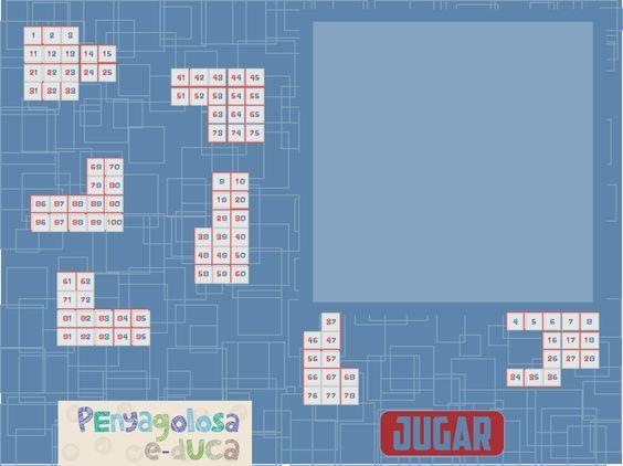 Puzzle con la tabla del 100