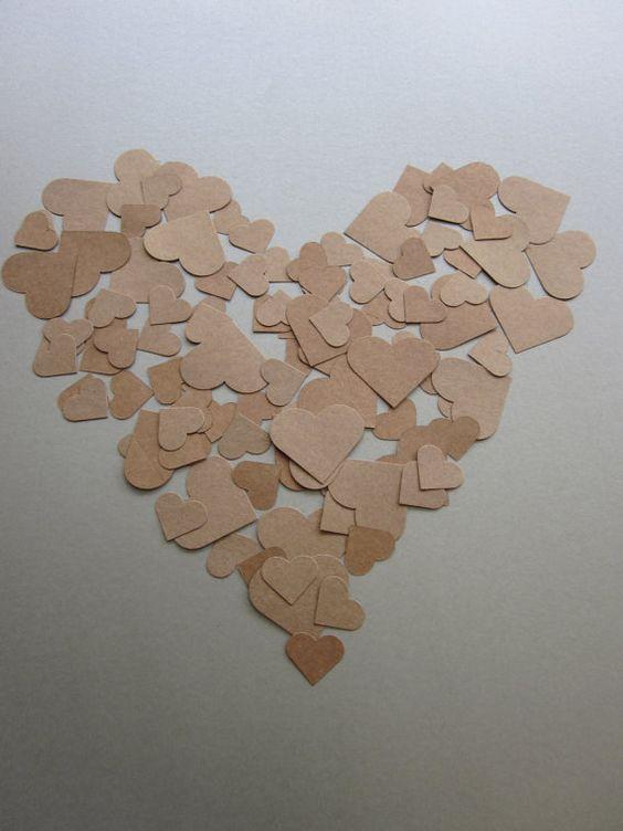 Lovely heart Kraftpaper
