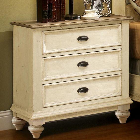 Riverside Furniture Coventry 2 Tone 3 Drawer Nightstand U0026 Reviews | Wayfair