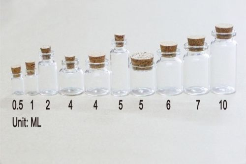 Wholesale Small Bottle With Corks 0 5ml 10ml Tiny Clear Glass Bottles Vial New Ebay Small Bottles Glass Bottles Craft Storage