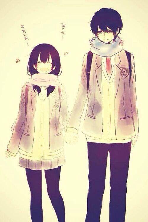 Kawaii anime couple
