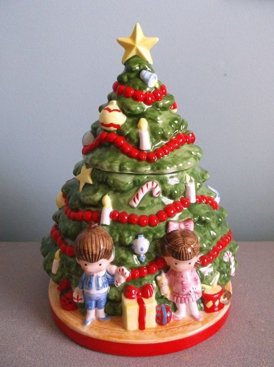 And more cookie jars christmas trees jars trees christmas vintage