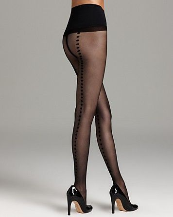 Commando Tights - Premier Sheer with Polka Dot Back Seam #H10T13 - Women's - Bloomingdale's