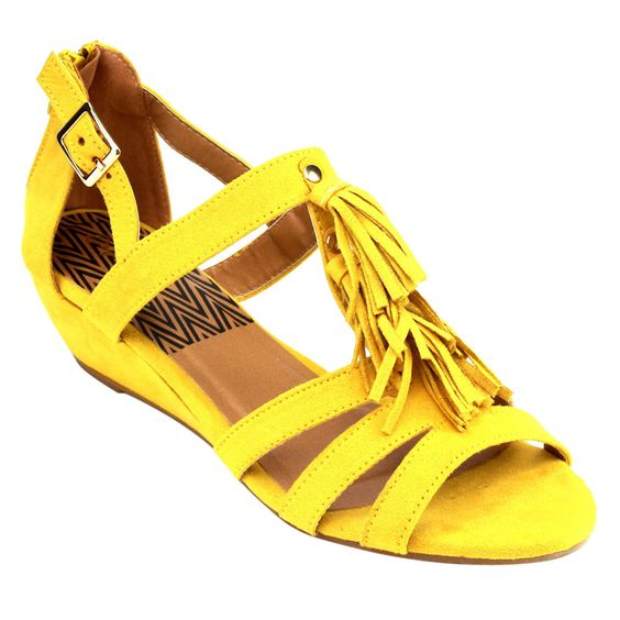 Qupid Women's Faux Low-wedge Sandals