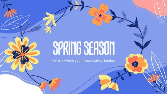 Spring Season Google Slides Theme And Powerpoint Template Google Slides Themes Spring Season Powerpoint