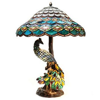 Peacock Tiffany Style 26 5 Quot Peacocks Hallow Double Lit