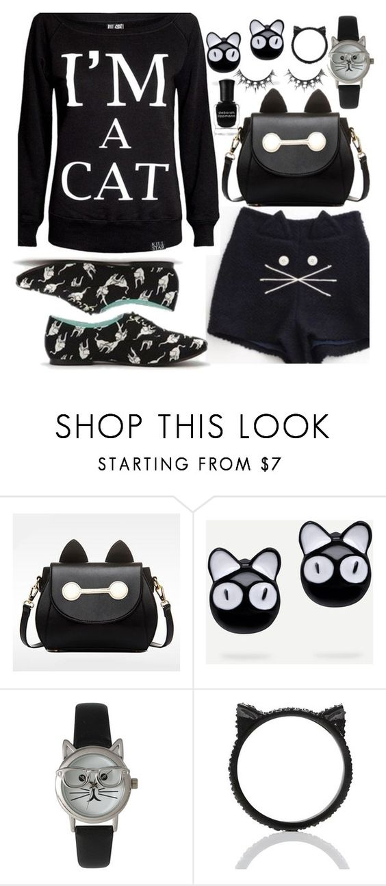 """I Wish It Was Caturday"" by deborah-calton ❤ liked on Polyvore featuring BeiBaoBao, Olivia Pratt, Kate Spade and Deborah Lippmann"
