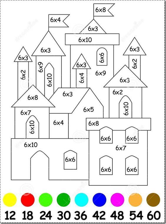 Blog de atividades fundamental 1 e 2: Exercícios para crianças com multiplicação por 6