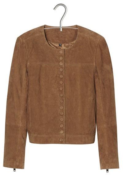 e shop veste boutonne en daim marron kookai pour femme sur place des tendances groupe