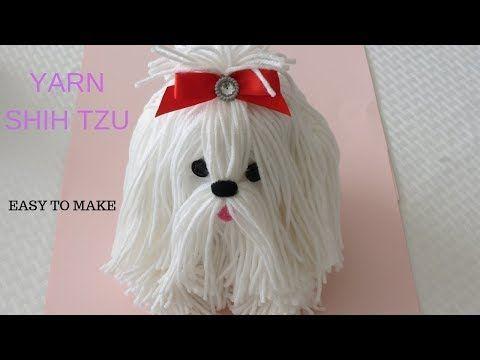 How To Make A Yarn Wool Dog Shih Tzu Youtube In 2020 Plysova Zviratka Zabavne Vyrabeni Hackovani