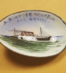 Antique S.S. Kaiser Wilhelm Der Grosse Souvenir Spoon Sterling Rare