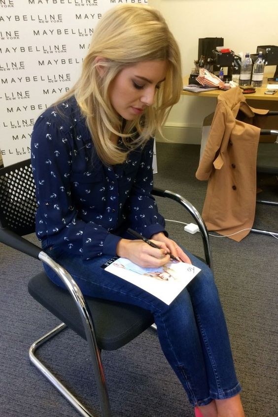 Mollie King Signing Autographs At London Fashion Weekend