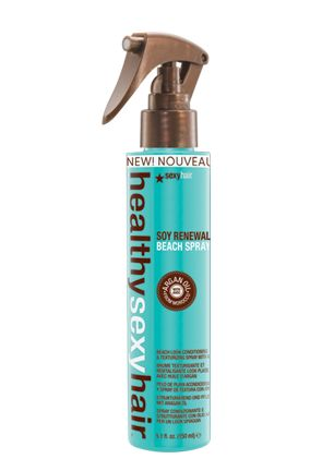 SOY RENEWAL BEACH SPRAY creates undone texture that looks and feels like you've spent a day by the sea. Helps nourish, protect and heal hair damage with the power of Argan oil. Cures winter blues by giving your hair the look and feel of a day at the beach.  How To Use  Spray on damp hair and let dry naturally or blow-dry with a diffuser for all over texture. Use on dry hair for detailing or to add volume to the roots without having to wet hair.