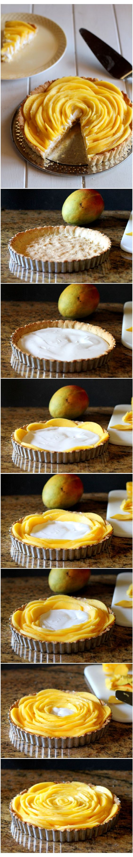 Mango Tart (Gluten Free, Paleo, Vegan, Refined Sugar Free) | from Bakerita.com #recipe #paleo #glutenfree:
