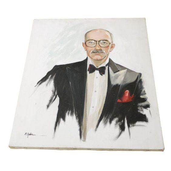 Image of Oil Portrait on Canvas by M. Kehler