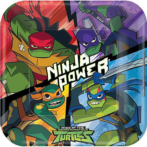 Rise Of The Teenage Mutant Ninja Turtles Lunch Plates 8ct Teenage Mutant Ninja Turtles Party Ninja Turtle Party Supplies Mutant Ninja Turtles Party