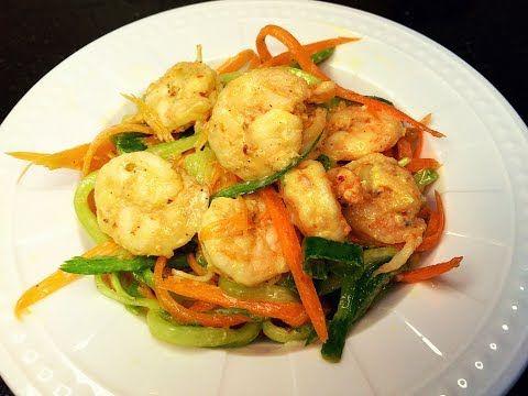 سلطة الروبيان الجمبري الصحية لاصحاب الدايت ولاعبي كمال الاجسام Youtube Food Meat Shrimp