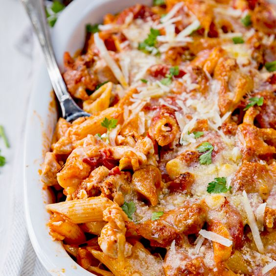Low fat chicken pasta bake recipe