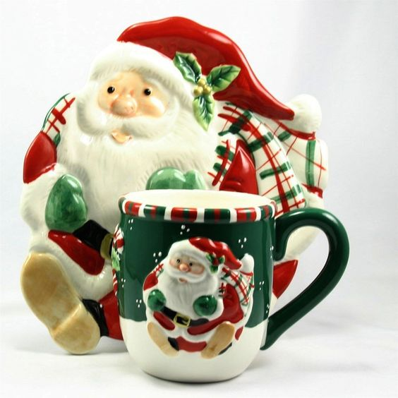 Details about Fitz and Floyd Gift Gallery Holiday Mug and Plate Set