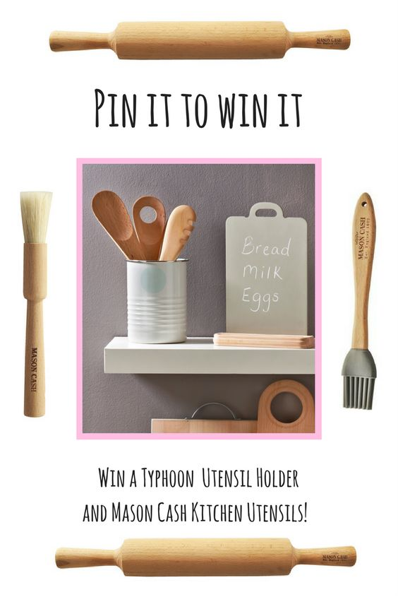 Competition time! Win a Typhoon Americana Vintage Kitchen Utensil Holder and a three piece Mason Cash Pastry Wooden Utensils Set. All you need to do it pin this tweet (to any board) and you're entered!   You have until Midnight on the 7th September to enter - so don't miss your chance!   You can find all the T&Cs here:
