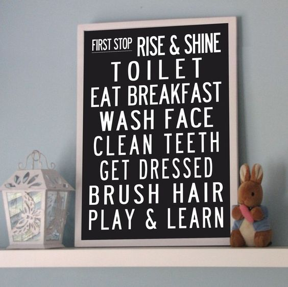 Morning routine poster. #backtoschool