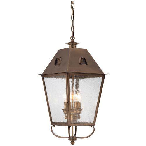 Minka Lavery 72425 212 Edenshire Four Light Outdoor Hanging Pendant In English Brass In 2020 Outdoor Hanging Lanterns Lantern Pendant Lighting