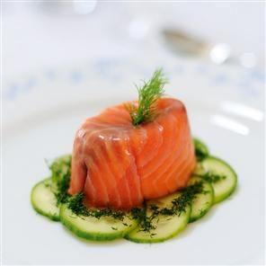 Individual smoked salmon terrines Recipe   delicious. Magazine free recipes