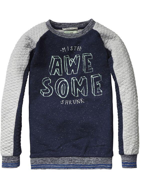 Sweater met ronde hals   Sweat   Jongenskleding bij Scotch & Soda