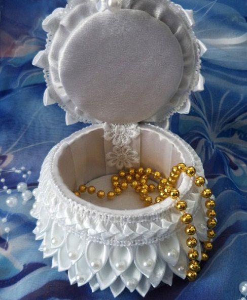 JOYERO-Handmade Jewelry Box Angel. by KanzashiAccessories on Etsy | kANZASHI ADRIANA | Pinterest | Handmade jewelry box Angel and Box & JOYERO-Handmade Jewelry Box Angel. by KanzashiAccessories on Etsy ... Aboutintivar.Com