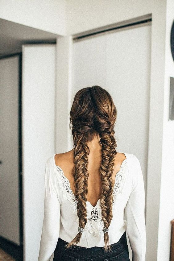 Astounding Long Braids Tumblr And Braids On Pinterest Hairstyle Inspiration Daily Dogsangcom
