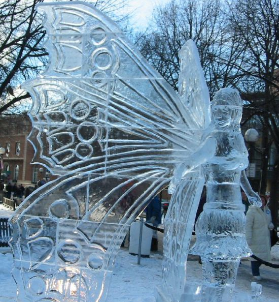 ice sculpture: ice fairy
