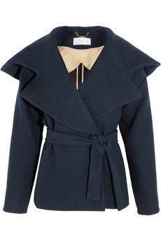 Chloé Manteau en laine brossée à capuche | NET-A-PORTER