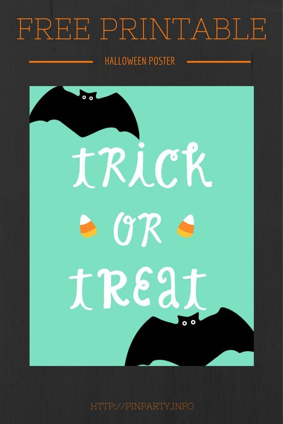 Free Printable for Halloween: Trick or Treat