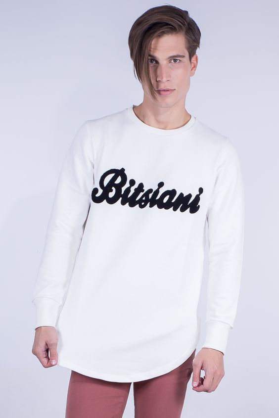 Longline Sweatshirt In Bitsiani Embroidery
