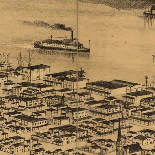 DIY giant map on engineering print // Birdseye view of Portland, Oregon