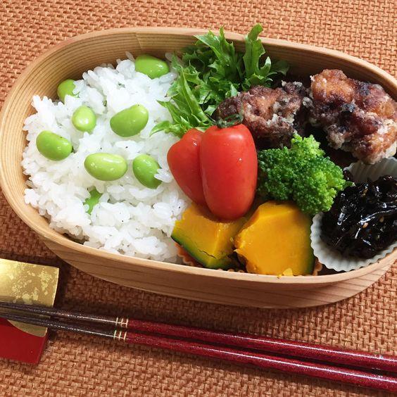 Deep-fried chicken & Edamame rice