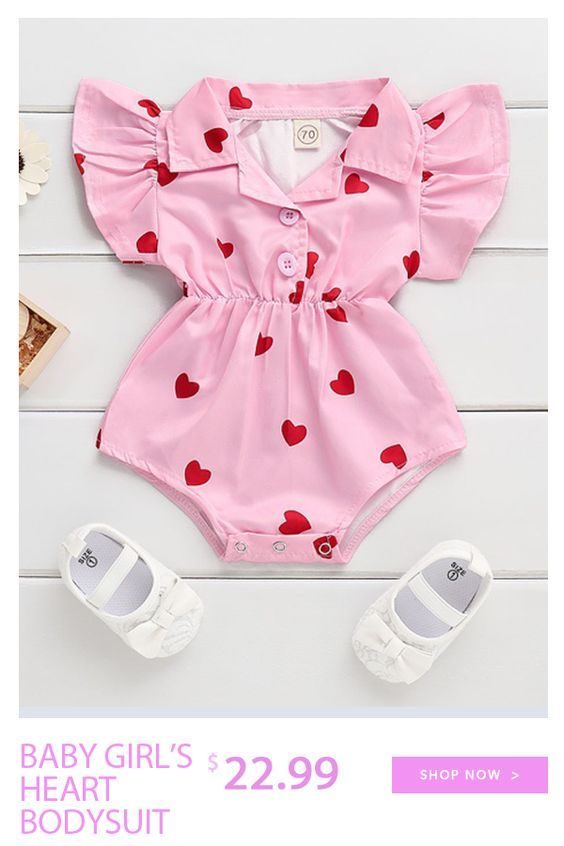 Baby Girl S Heart Bodysuit Baby Girl Outfits Newborn Cute Baby Clothes Fashionable Baby Clothes