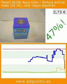 Revell 36106 Aqua Color - Pintura acrílica mate (18 ml), color negro alquitrán (Juguete). Baja 47%! Precio actual 2,75 €, el precio anterior fue de 5,20 €. https://www.adquisitio.es/revell/36106-aqua-color-pintura