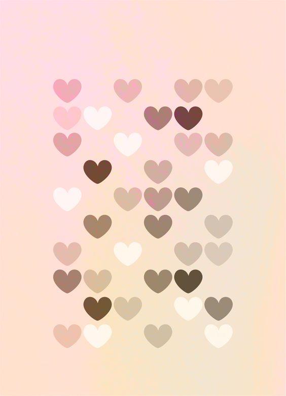 Hearts Pink Corazones rosas