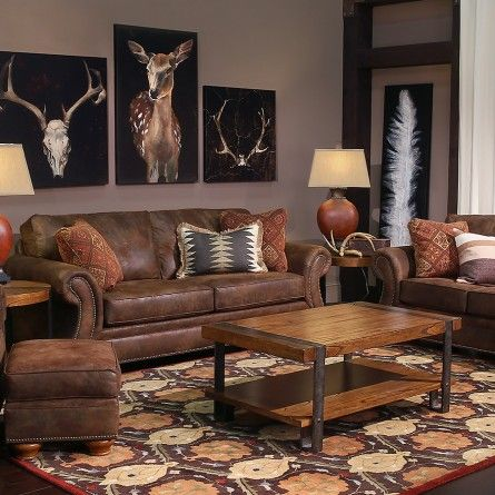 Broyhill Laramie Brown Sofa Gallery Furniture Houston