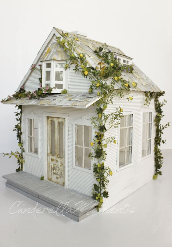The Getaway Cottage Custom Dollhouse by cinderellamoments on Etsy
