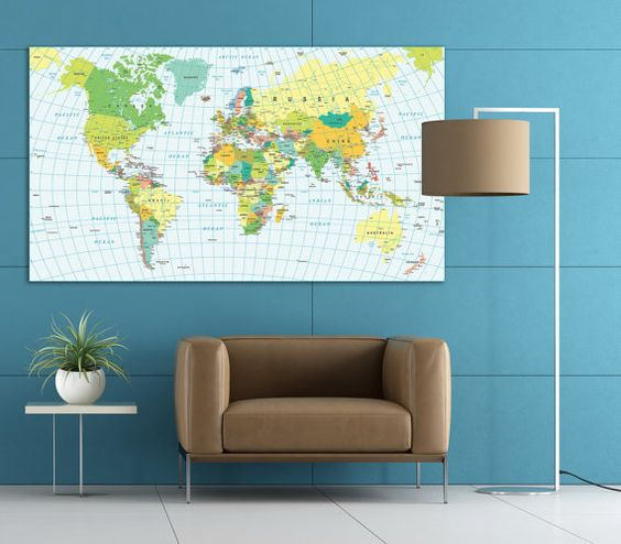 Geographic map of the world travel map push pin world map – Push Pin World Travel Map