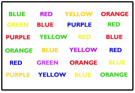 The One Show's Stroop test. Brain Stuff