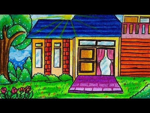 Cara Menggambar Rumah Sederhana Youtube Cara Menggambar Gambar Warna