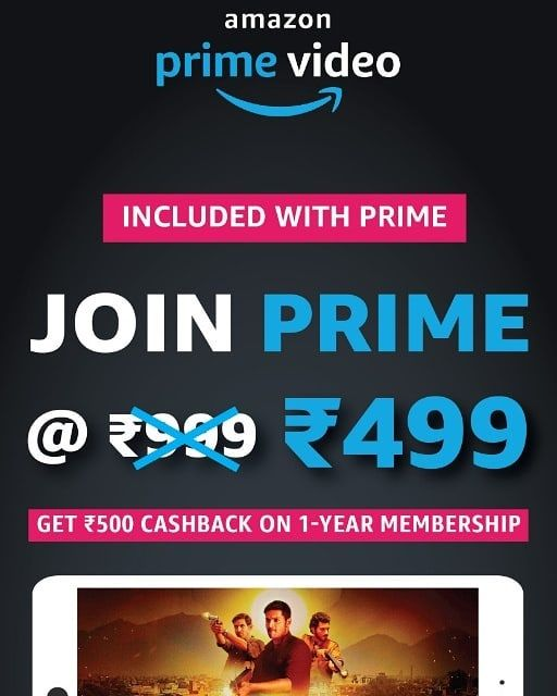 Now Amazon Prime Yearly Subscription Is Just 499 Offer Valid