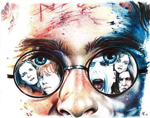 Harry Potter- great fan art. Except ya know...his eyes are GREEN!!!!!have a good day